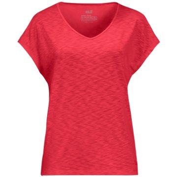 JACK WOLFSKIN T-ShirtsTRAVEL T W - 1806552 rot