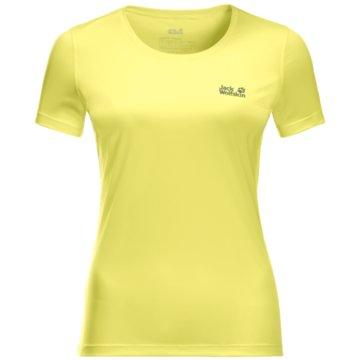 JACK WOLFSKIN T-ShirtsTECH T W - 1807121 gelb