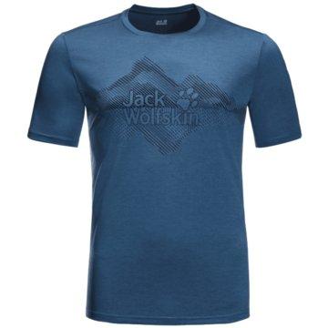 JACK WOLFSKIN T-ShirtsCROSSTRAIL GRAPHIC T M - 1807201 blau