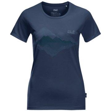 JACK WOLFSKIN T-ShirtsCROSSTRAIL GRAPHIC T W - 1807211 blau