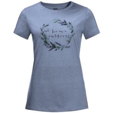 JACK WOLFSKIN T-ShirtsAT HOME T W - 1807391-1216 blau