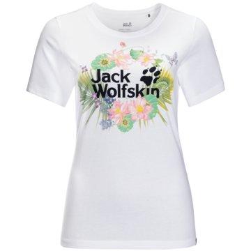 JACK WOLFSKIN T-ShirtsPARADISE LOGO T W - 1807661 weiß