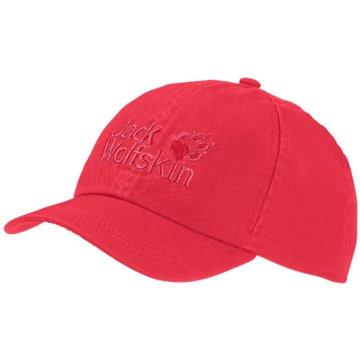 JACK WOLFSKIN CapsKIDS BASEBALL CAP - 1901011 rot