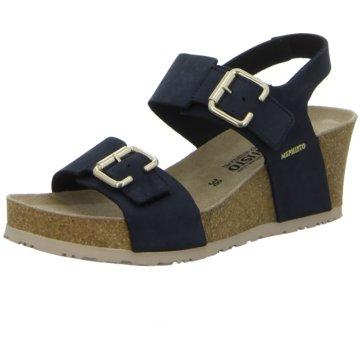 Mephisto Komfort Sandale blau