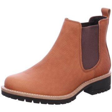 Elegant Herren Ecco Boots Schwarz Orange Orange Grau