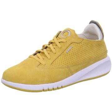 Geox Sportlicher Schnürschuh gelb