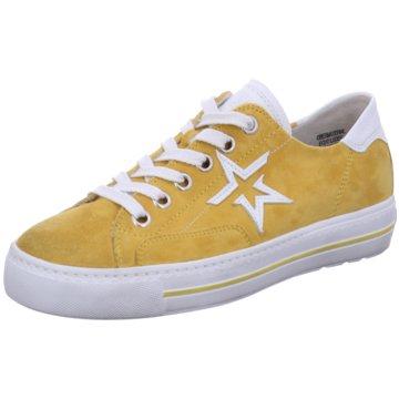 Paul Green Sportlicher Schnürschuh gelb