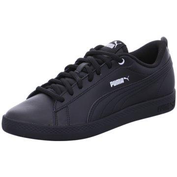 Puma Sneaker LowSmash v2 Leather Women schwarz