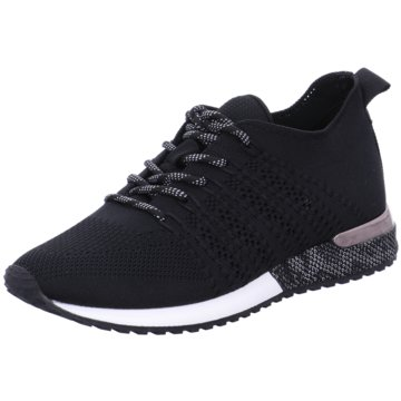 La Strada Sportlicher Schnürschuh schwarz