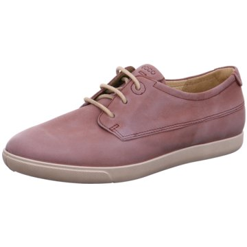 Ecco Komfort Schnürschuh rosa