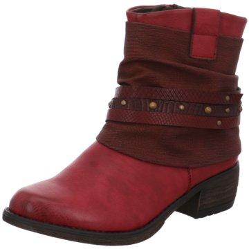 Rieker Klassische Stiefelette rot