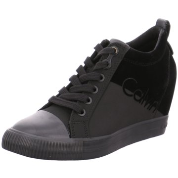Calvin Klein Sneaker Wedges schwarz