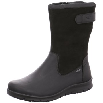 Ecco Klassischer Stiefel schwarz