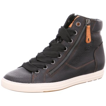 Paul Green Sneaker HighGlattleder schwarz