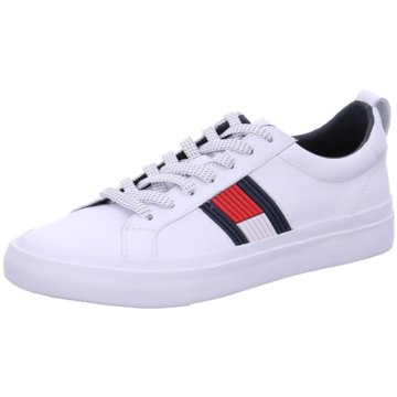 Tommy Hilfiger Sneaker LowFlag Detail Leather weiß