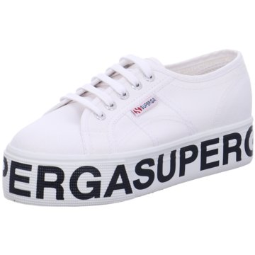 Superga Plateau Sneaker weiß