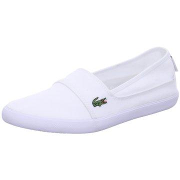 Lacoste Sportlicher Slipper weiß