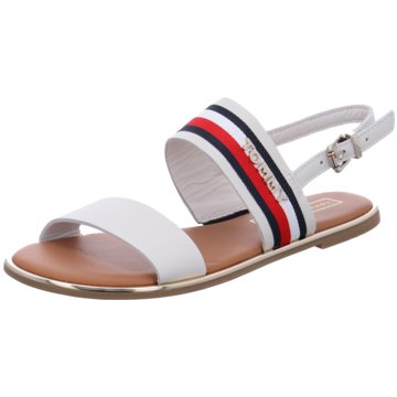 Tommy Hilfiger SandaleFlat Corporate Ribbo weiß