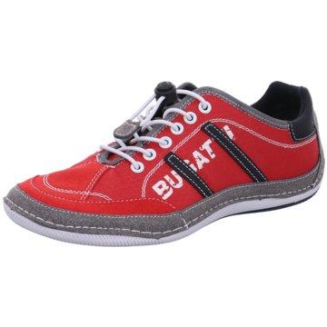Bugatti Sportlicher Schnürschuh rot