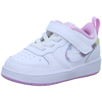 Nike Kleinkinder MädchenNike Court Borough Low 2 SE Baby/Toddler Shoe - CZ6614-100 weiß