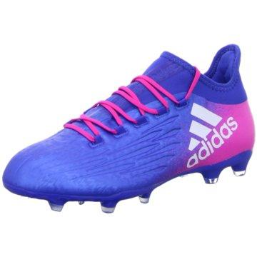 adidas Nocken-SohleX 16.2 FG Herren Fussballschuhe Nocken blau pink blau