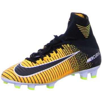 Nike FußballschuhMercurial Superfly V Dynamic Fit FG Kinder Fußballschuhe rot schwarz gelb