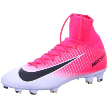 Nike FußballschuhJr Mercurial Superfly V FG Kinder Fußballschuhe Nocken pink weiß pink