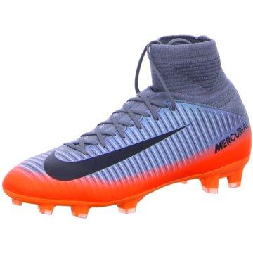 Nike FußballschuhMercurial Superfly V CR7 FG Kinder Fußballschuhe Nocken grau orange grau