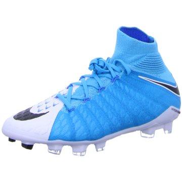 Nike FußballschuhHypervenom Phantom III FG Kinder Fußballschuhe Nocken blau weiß blau