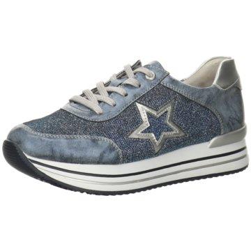 Remonte Plateau Sneaker blau