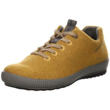 Legero Komfort Schnürschuh gelb