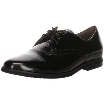Gabor comfort Eleganter Schnürschuh schwarz