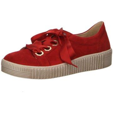 Gabor Sportlicher SchnürschuhSneaker rot