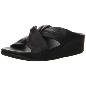 FitFlop Komfort Pantolette schwarz