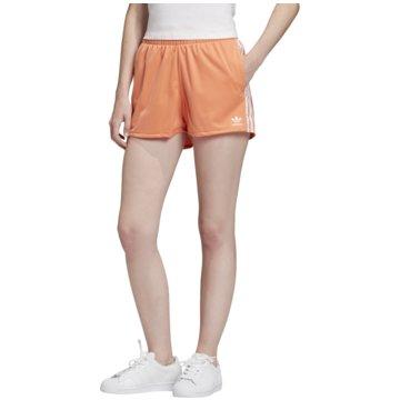 adidas kurze Sporthosen3 Stripes Shorts orange
