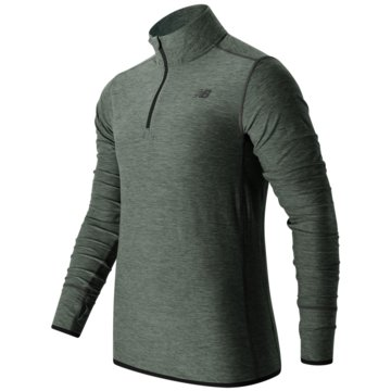 New Balance SweatshirtsTransit Quarter Zip Herren Laufshirt Heather Charcoal -