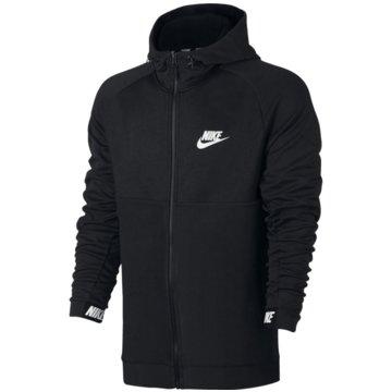 Nike FleecejackenSportswear Advance 15 Hoodie Fleece Full Zip schwarz