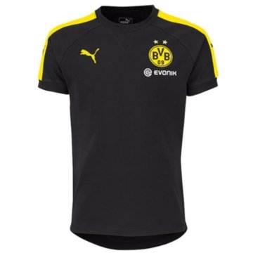 Puma Teamwear & TrikotsätzeBVB Borussia Dortmund Casuals Performance Tee Kinder T-Shirt schwarz schwarz