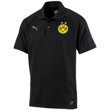 Puma FanartikelBorussia Dortmund Casual Pololoshirt BVB schwarz schwarz