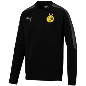 Puma SweaterBVB Casuals Sweatshirt Borussia Dortmund Herren Pullover schwarz -