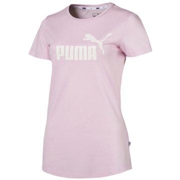 Puma FunktionsshirtsEssentials Logo Heather Tee rosa