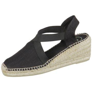 Toni Pons Espadrilles Sandaletten schwarz