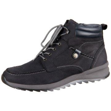 Waldläufer Komfort Stiefel blau
