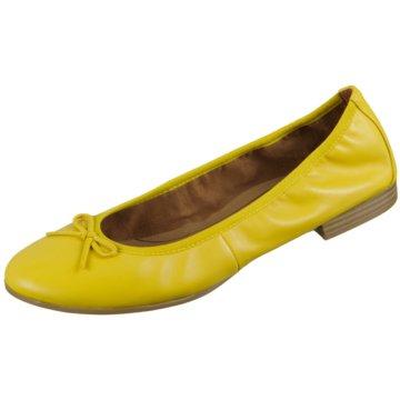 Tamaris Klassischer Ballerina gelb
