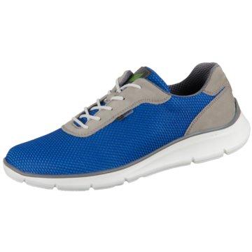 Waldläufer Komfort Schnürschuh blau