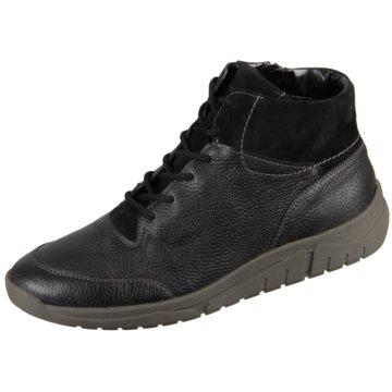 Waldläufer Komfort Stiefel schwarz