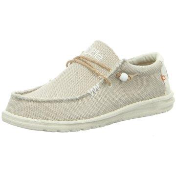 Hey Dude Shoes Mokassin SchnürschuhWally Braided weiß