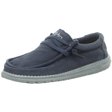 Hey Dude Shoes Mokassin SchnürschuhWally Washed blau