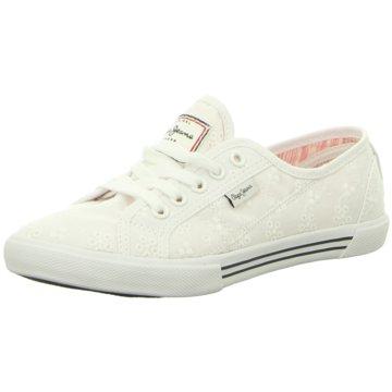 Pepe Jeans Sneaker LowAberlady Anglaise 17 weiß