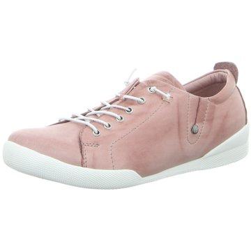 Andrea Conti Sportlicher Schnürschuh rosa